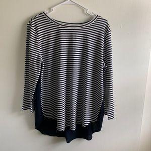 Loft | Striped LongSleeves Top